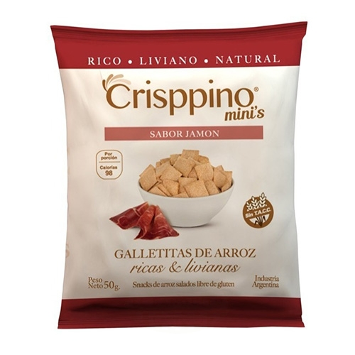 Crisppino Mini Galletitas de Jamón x 50 Grs El Banquito Market