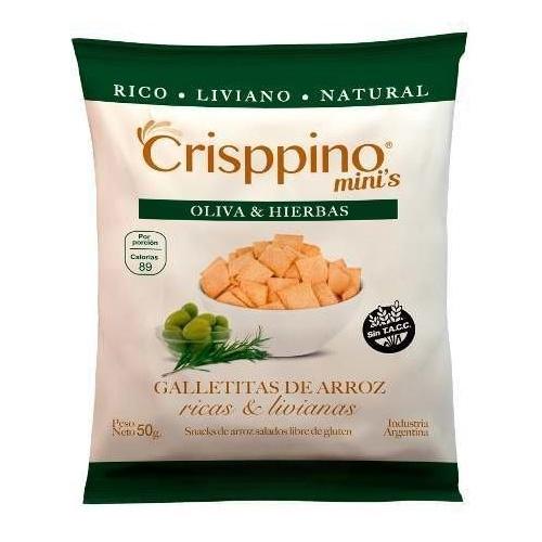 Crisppino Mini Galletitas de Oliva y Hierbas x 50 Grs El Banquito Market
