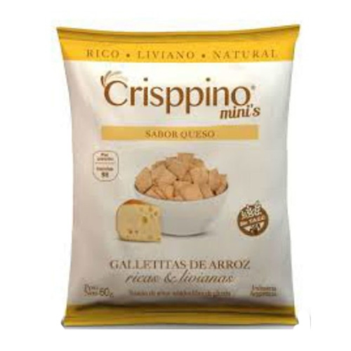 Crisppino Mini Galletitas de Queso x 50 Grs El Banquito Market