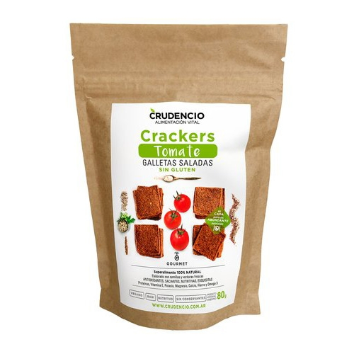 Crudencio Crackers de Tomate x 80 Grs El Banquito Market