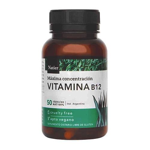 Natier Vitamina B12 50 Cápsula el banquito market