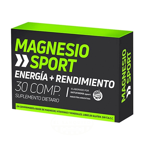 Natufarma Magnesio Sport 30 Comprimidos el banquito market