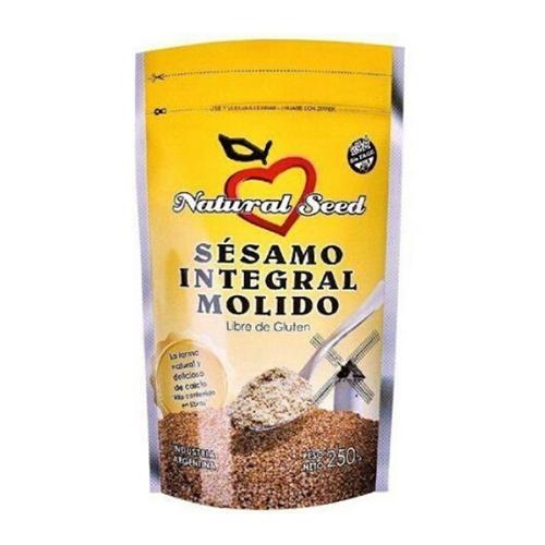 Natural Seed Semillas de Sésamo Integral Molido X 250 Grs El Banquito Market