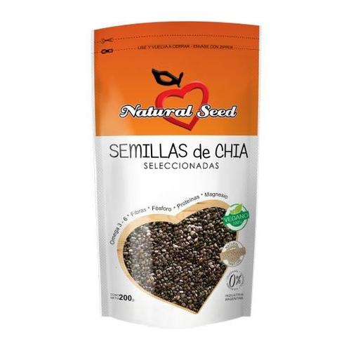 Natural Seed Semillas de Chía x 200 grs El Banquito Market