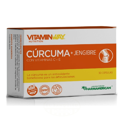 Pharmamerican Cúrcuma + Jengibre Blister x 10 Cápsulas el banquito market