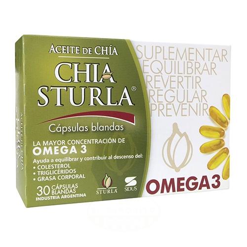 Sturla Aceite de Chía x 30 Comprimidos el banquito market