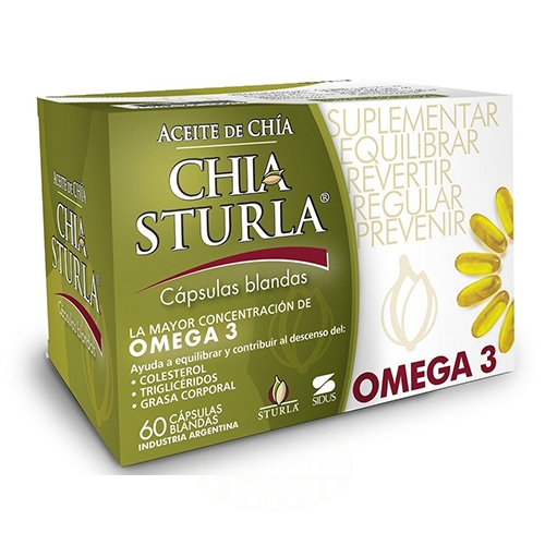 Sturla Aceite de Chía x 60 Comprimidos el banquito market