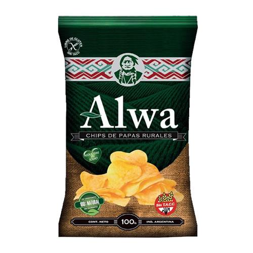 Alwa Chips de Papas Rurales x 100 Grs - El Banquito