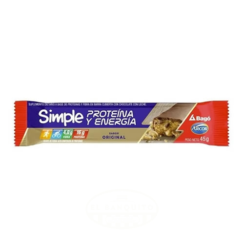 Arcor Simple Barra de Cereal Proteina y Energía x 45 Grs - El Banquito Market