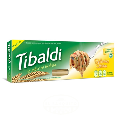 Tibaldi Fideos Tallarines Dietéticos Clásicos x 300 Grs - El Banquito Market