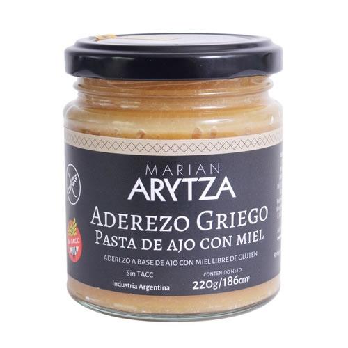 Arytza Aderezo Griego Pasta de Ajo con Miel Sin TACC x 220 Grs - El Banquito Market