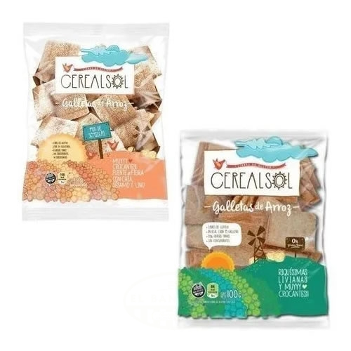 Cereal Sol Galletitas de Arroz Sin TACC x 100 Grs - El Banquito Market