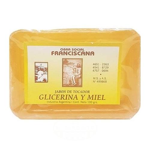 Franciscana Jabón de Tocador de Miel y Glicerina x 100 Grs - El Banquito Market