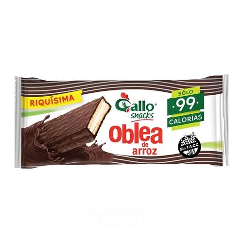 Gallo Oblea de Arroz Bañada en Chocolate Sin TACC x 20 Grs - El Banquito Market
