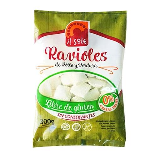 Il Sole Ravioles Pollo y Verdura Sin TACC x 300 Grs - El Banquito Market