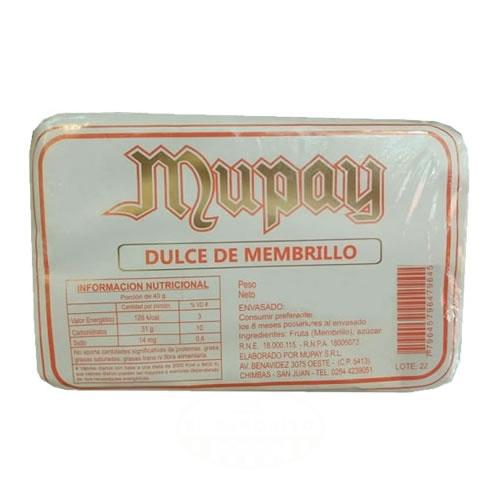 Mupay Dulce de Membrillo en Molde - El Banquito Market