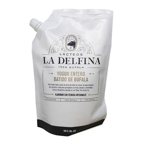 La Delfina Yogur Entero Batido de Búfala x 600 Grs - El Banquito Market