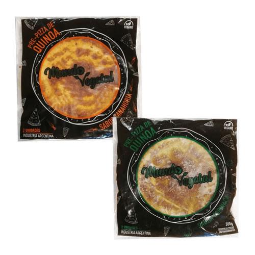 Mundo Vegetal Pre Pizzas de Quinoa x 300 Grs (2 Unidades) - El Banquito