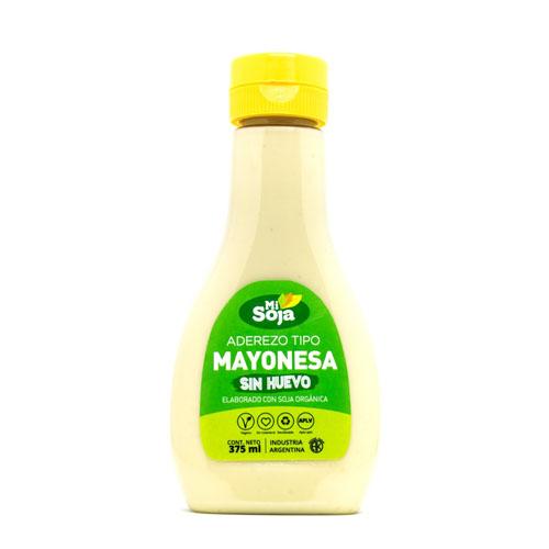 Mi Soja Mayonesa Vegana Sin Huevo con Pico Dosificador x 375 Grs