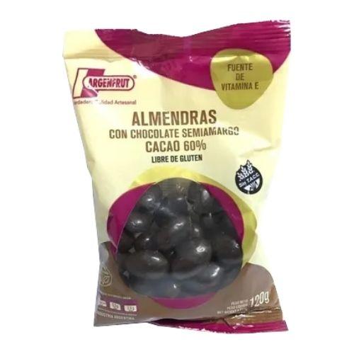 Argenfrut Almendras Con Chocolate Semi Amargo Cacao 60% x 120 Grs